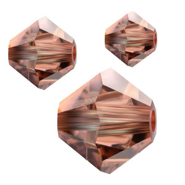 Preciosa Kristall Doppelkegel 4mm 50St., crystal Capri Gold