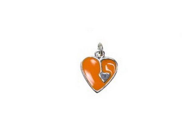 Anhänger Herz12x15mm orange