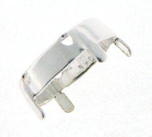 Kessel f. 8mm Stein, (SS38) 4 Bohrungen, silberfarbig