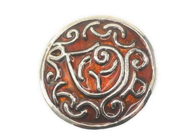 Click-it Button Djin, 18 mm, braun