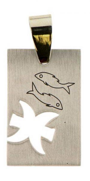 Edelstahl Anhänger Sternzeichen, Fische