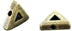 Metallzierteil Dreieck 12mm antikmessing