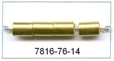 Minimetalltube ca.6x8mm 1.m. vergoldet