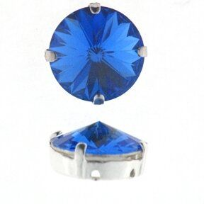 Kessel m.Swarovski-Crystal 8mm sapphire