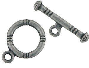 Knebelverschluss 12mm antiksilber