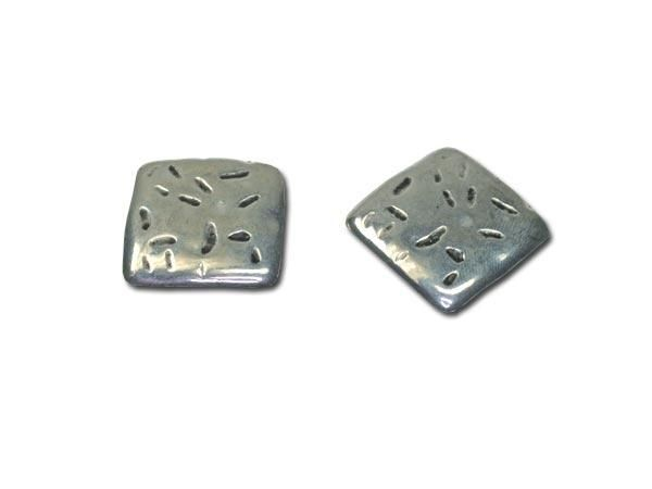 20 Stück Metalleffektperle Viereck 26x26mm