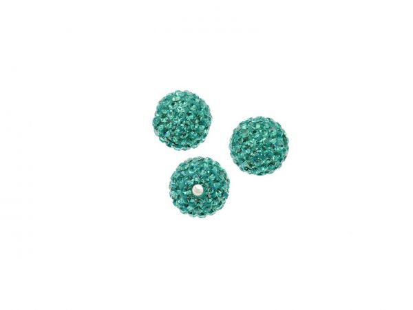 Diamond Strassperle, 12mm, Bohrung 2mm, blue zirkon