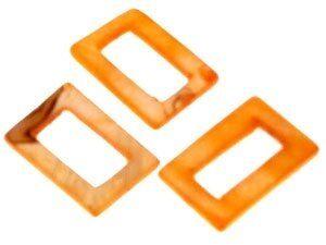 Perlmutt Rechteck 20x30mm Strang ca.40cm, ca 12 Stck orange