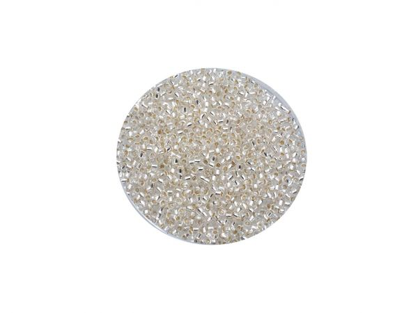 Toho Rocailles 15-0 (ca.1,5mm), 10g, silver lined crystal TR11-PF21
