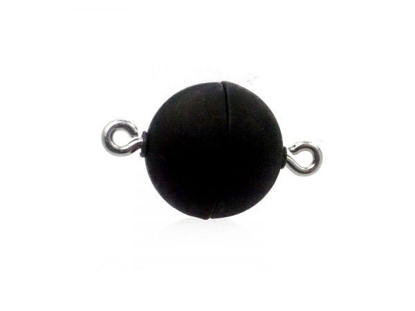 Magnetverschluss Powerclip DE, rund 15mm, schwarz matt