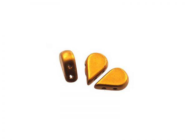 AMOS® PAR PUCA® Glasperlen, 2 Bohrungen, 5 X 8 MM 10gr., bronze gold mat
