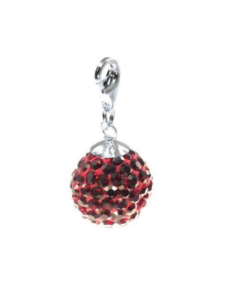 Anhänger 'Diamondball' 10mm garnet