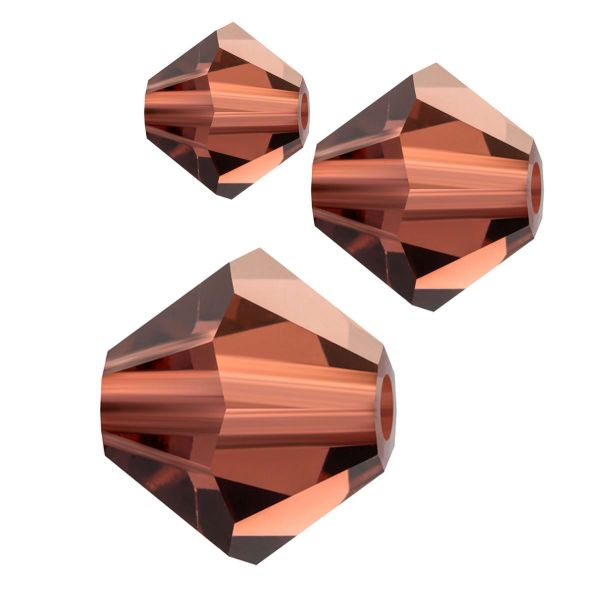 Preciosa Kristall Doppelkegel 4mm 50St., lt.burgundy