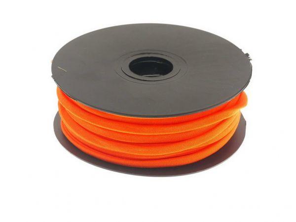Stretchband gefüttert 5mm Poly/Elastan 1,00m Zuschnitt orange