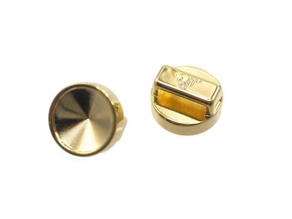 Slide-it Armbandelement, rund, 14mm , zum einkleben von 12mm Steinen, vergoldet