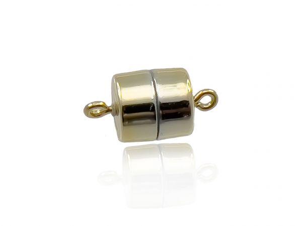 Magnetverschluss Powerclip DE, Trommel 9,5x10mm, gold glänzend